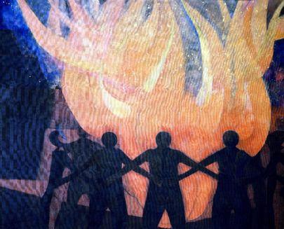 Le Gouvernement du #Mexique a fait don à l'Organisation des Nations Unies de cette peinture intitulée « Fraternité » de l'artiste mexicain Rufino Tamayo. Cette peinture présente en son centre un grand feu, symbolisant l'amour, entourée de figures humaines avec les bras entrelacés. Sur le côté droit de la toile, l'artiste peint une structure noble moderne symbolisant la technologie et sur le côté gauche, une pyramide mexicaine, qui symbolise le passé.
