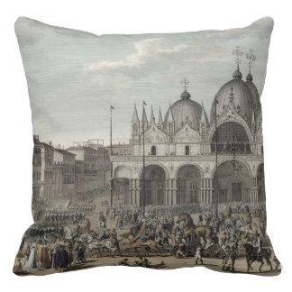 L'entrée du Français dans Venise et le vol Coussin Décoratif