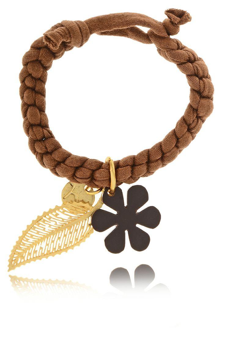 MANCOTÍ  HOJA DE OTONO Brown Elastic Bracelet