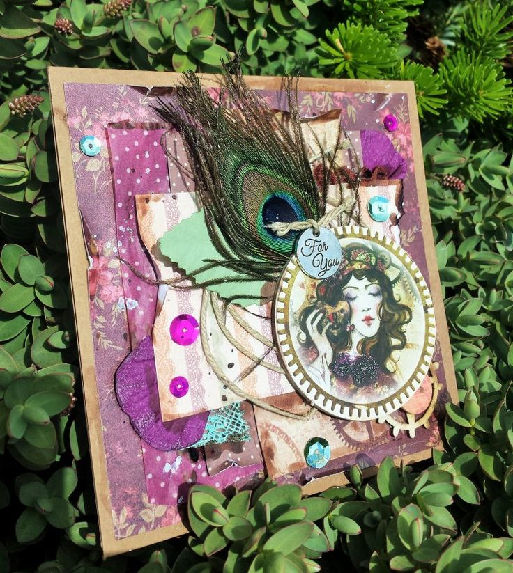 We love this Peacock card made by Mandy using the new SANTORO'S Willow papercraft collection