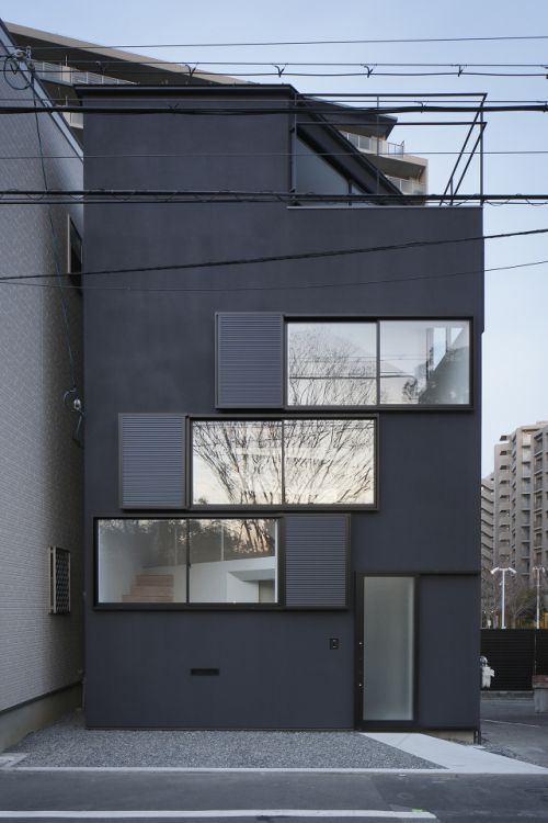 Spiral Window House is a minimalist house located in Osaka, Japan, designed by Aphaville. The client's demand was to live while appreciating the Yodo river flowing in front of his eyes, and also to enjoy the annual firework competition on the Yodo river from the rooftop terrace. (1)