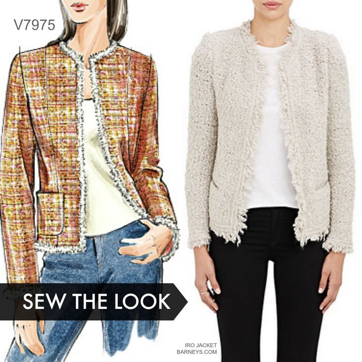 Sew the Look: Make a Chanel-style jacket with Vogue Patterns V7975 jacket pattern. Customer favorite pattern.