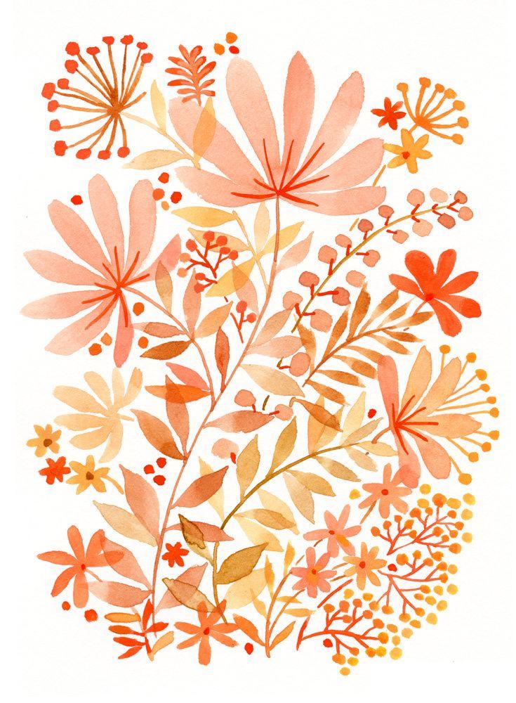 Watercolor Flowers - Vikki Chu