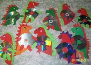 cd dinosaur craft | Crafts and Worksheets for Preschool,Toddler and Kindergarten
