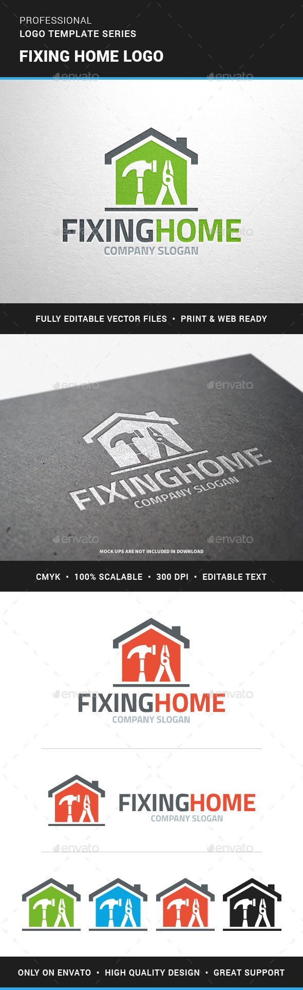 Fixing Home Logo Template - Objects Logo Templates