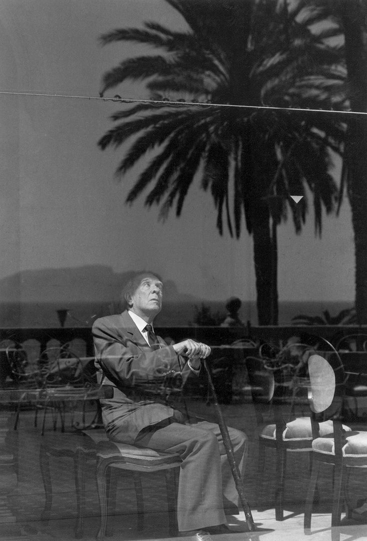 "Jorge Luis Borges, Palermo, Sicily, 1984 credit: Ferdinando Scianna/Magnum Photos From the New York Review of Books ""The Daggers of Jorge Luis Borges"" by Michael Greenberg"