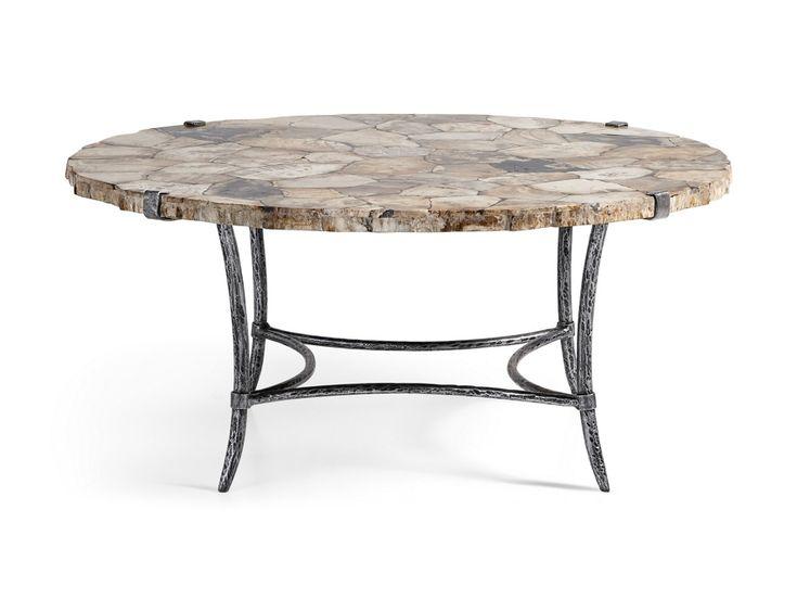 Boracay petrified wood coffee table arhaus furniture