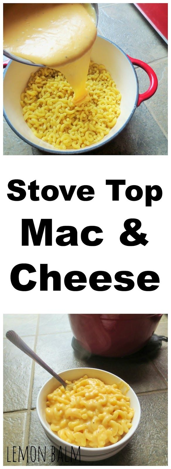 Stove Top Mac & Cheese http://macthelm.blogspot.com/ Quick and easy, this Stove Top Mac & Cheese only needs five ingredients!