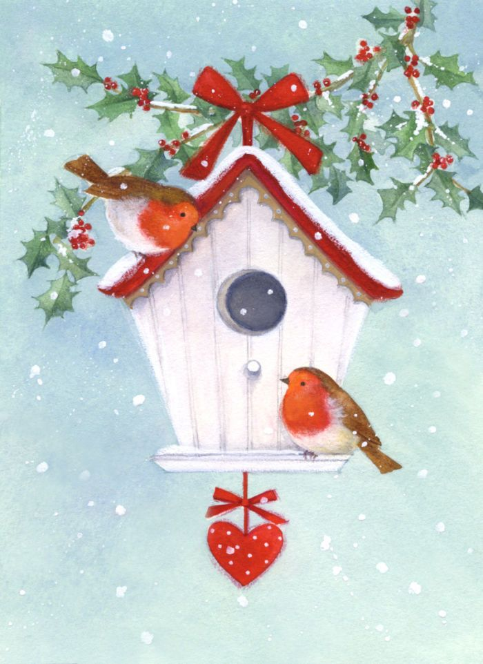 Lisa Alderson - LA - robins and birdhouse.jpg