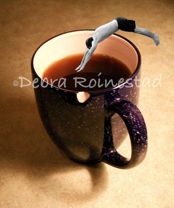 Tasa De Cafe by Debra Roinestad by TheLaughingLlama on Etsy, $15.00