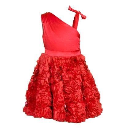 Lulu Embroidered Party & Evening Dress - Red