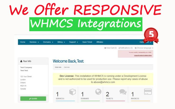 ### Seamless WHMCS Integration Service ### Give your site that professional look with a client area that seamlessly matches the rest of your website. With our integration service, we create a custom template for your WHMCS system to make it match the rest of your website WHMCS integration is where we make a WHMCS template that matches your main website design. The end result will be that your clients do not notice any design differences when they navigate to your WHMCS websi... on…