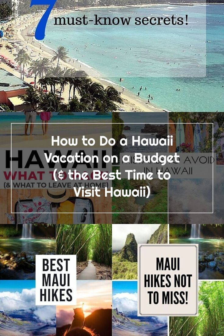 How to Do a Hawaii Vacation on a Budget (& the Best Time to Visit Hawaii) in 2020  Hawaii