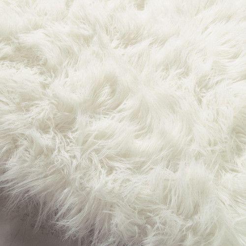Tappeto bianco in simil pelliccia 140 x 200 cm OUMKA