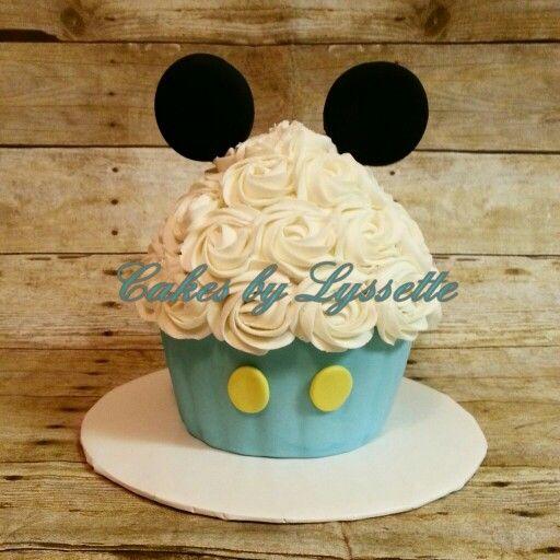 Baby Mickey Mouse Giant Cupcake Smash Cake
