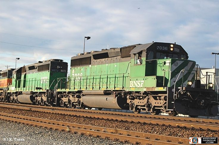 Тепловозы SD40-2 компании BNSF, г. Сиэтл, США