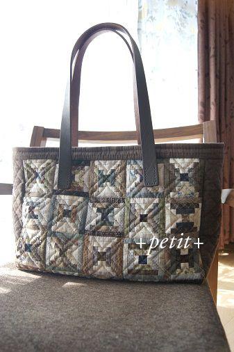 Mini Log Cabin patchwork purse