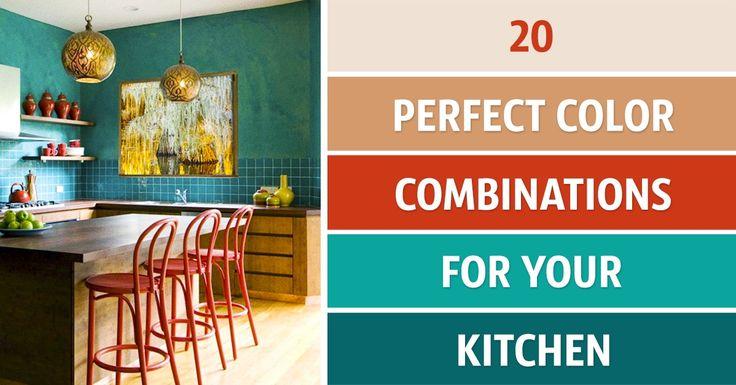 20perfect color combinations tobrighten upyour kitchen