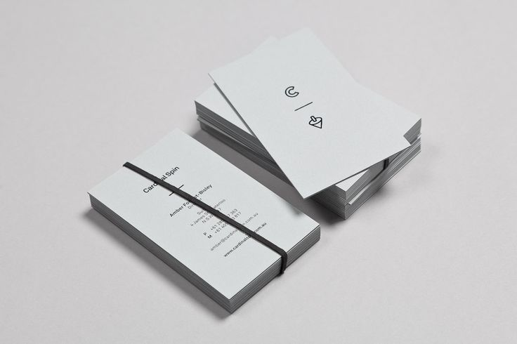 Business cards designed by Nowhere Famous for Cardinal Spin.