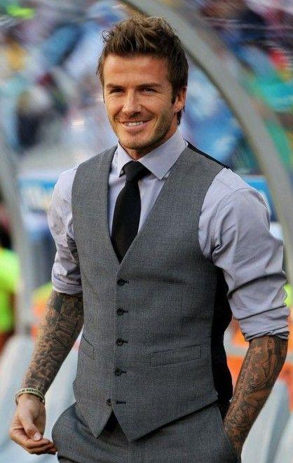 Help me find a similar grey waistcoat as David Beckham's