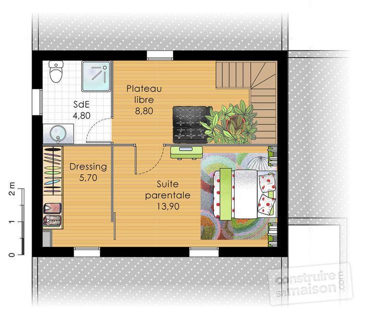 14 best maison interieur images on Pinterest Arquitetura, Future - plan maison 100m2 a etage