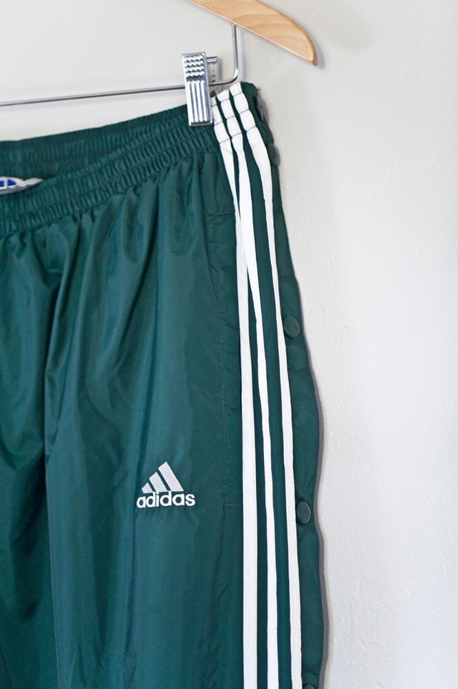9f919471 Adidas Vintage Tear Away Snap Sided Lined Track Pants Forest Green XXL 90s  Mint #fashion #clothing #shoes #accessories #mensclothing #pants (ebay link)