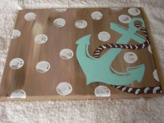 Acrylic  painting  Anchor painting  Nursery by JackJacksWayart