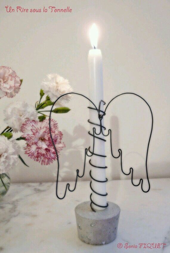Wire Craft Angel Wings / Candle Holder – #Angel #c…