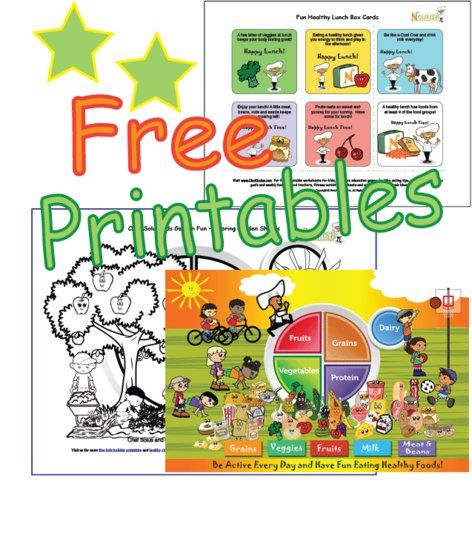 Free Printables - Health, Nutrition and Food Printable Worksheets ...