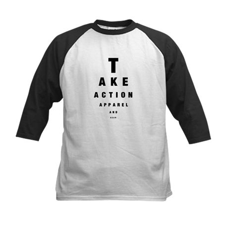 Eye Chart Youth Baseball Jersey T-Shirt