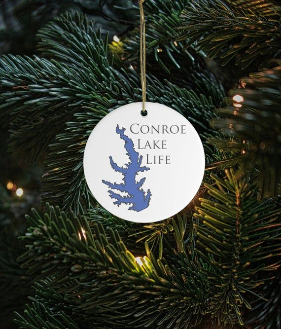 Conroe Christmas Classic 2020 Conroe Lake Life Ceramic Ornament Classic Christmas | Etsy in 2020