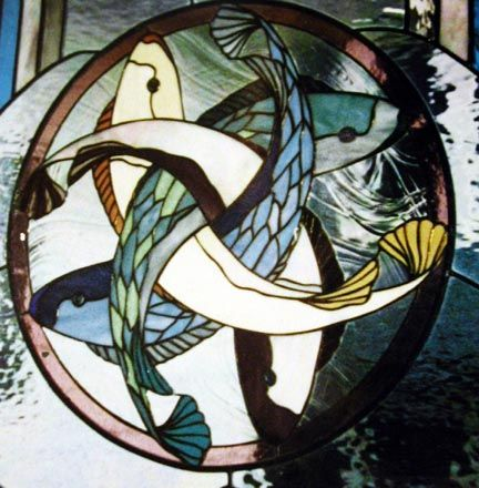 1000 images about stained glass poisson on pinterest for Stained glass fish