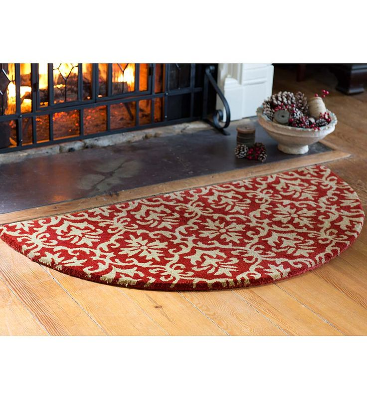 Filigree Wool Hearth Rug 2 X 4 Half Round Rugs