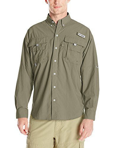 Columbia Men's Bahama II Long Sleeve Shirt, Cypress, XX-Large:   Columbia's PFG line is more than just great gear and apparel, it's a way of life. Packed with angler-friendly details, our fishing clothing, shoes and hats are comfortable and able to stand up to abuse.