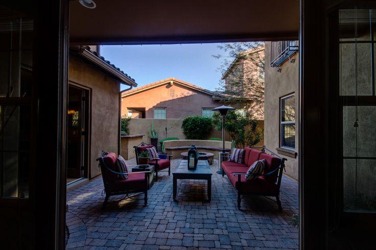 Patio, courtyard, backyard, stone, built in bbq