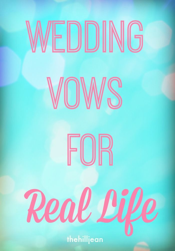 What if wedding vows were based on REAL life? Check out this sweet re-imagining of what vows should be like!