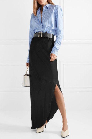 d6741214847 By Malene Birger | Aliviay asymmetric crepe de chine maxi skirt |  NET-A-PORTER.COM