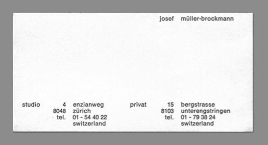 64 best business card images on pinterest name cards visit cards josef mller brockmann business card colourmoves