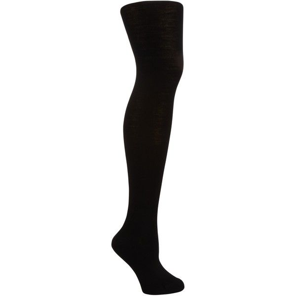 John Lewis Flat Wool Tights, Black ($20) ❤ liked on Polyvore featuring intimates, hosiery, tights, woolen stockings, wool pantyhose, wool tights, opaque stockings and woolen tights