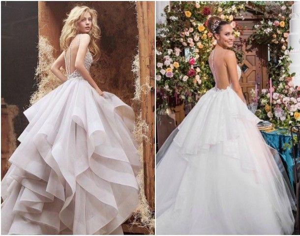 Najpiękniejsze tiulowe suknie ślubne - oczarują każdego!