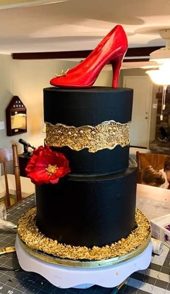 Fault Line Cake in 2019 | Shoe cakes, Cake trends, Geode cake