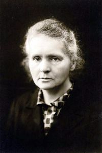 Marie Curie (7 November 1867 – 4 July 1934), was a Polish physicist and chemist, working mainly in France, who is famous for her pioneering research on radioactivity. She was the first woman to win a Nobel Prize, the only woman to win in two fields, and the only person to win in multiple sciences. She was also the first female professor at the University of Paris (La Sorbonne)