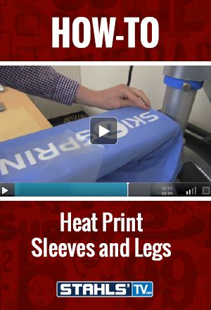 Adding print placements to sleeves or legs on an already sold garment can help increase sales for your business. Stahls' TV Presenter, Josh Ellsworth shows you how easy it is to heat print sleeves and legs using either the Stahls' Hotronix® Fusion or Air Fusion #heatpress. StahlsTV.com