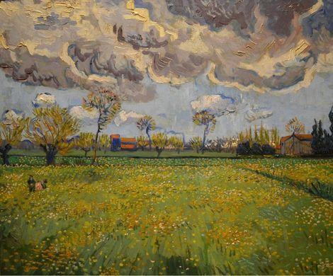 Vincent van Gogh, Landscape Under a Stormy Sky     on ArtStack #vincent-van-gogh #art