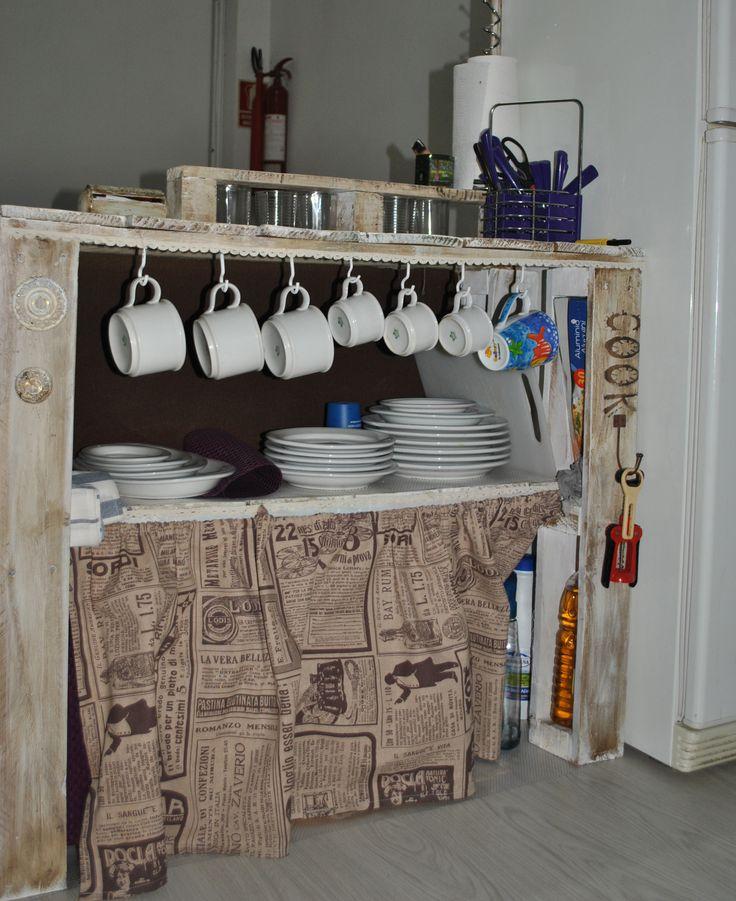 Mesa para cocina hecha con palets hummmm pinterest - Mesa de palets ...