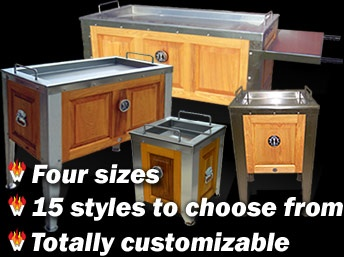 Al Simon's Cajun Microwaves: Hand-made from premium cypress & stainless steel