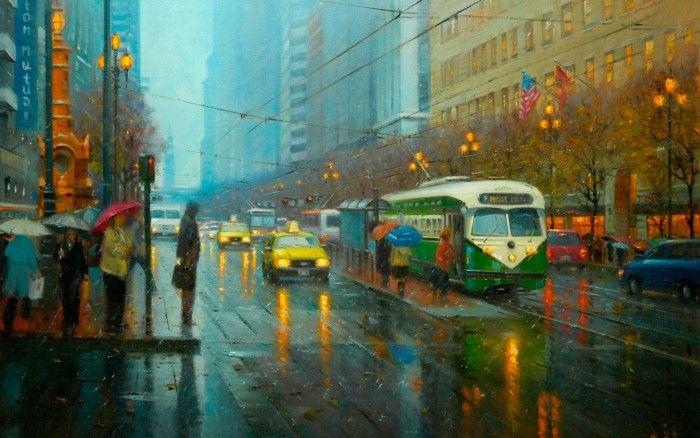 картины с дождем - 20
