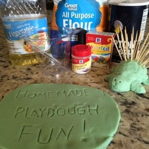 Blog Post: DIY Quick and Easy Playdough Recipe - the best I have tried yet! #DIYplaydough #homemadefun
