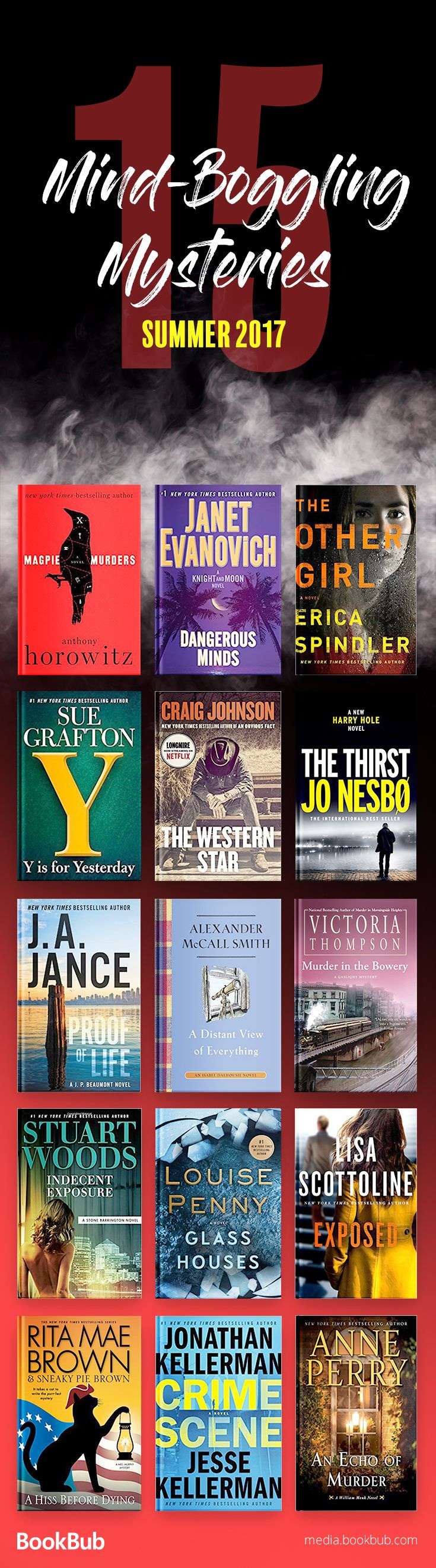 15 suspenseful mystery books to read in 2017. If you love twisty books, these novels are for you.