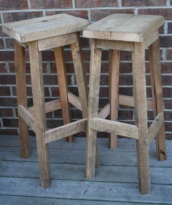 YOUR Reclaimed Rustic and Recycled Oak Barn Wood inch tall Rectangle Top Bar Stool & Best 25+ Rustic bar stools ideas on Pinterest | Bar stools kitchen ... islam-shia.org